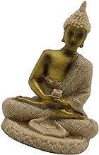 Generic Handmade Sandstone Sitting Buddha Statue Meditating Buddhism Figurine Decor