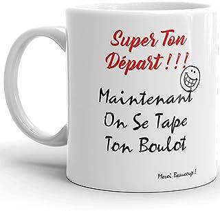Mug Humour collègue au top Tasse on se tape ton boulot Mug Qualité Idée Cadeau Originale retraite démission travail mutati...
