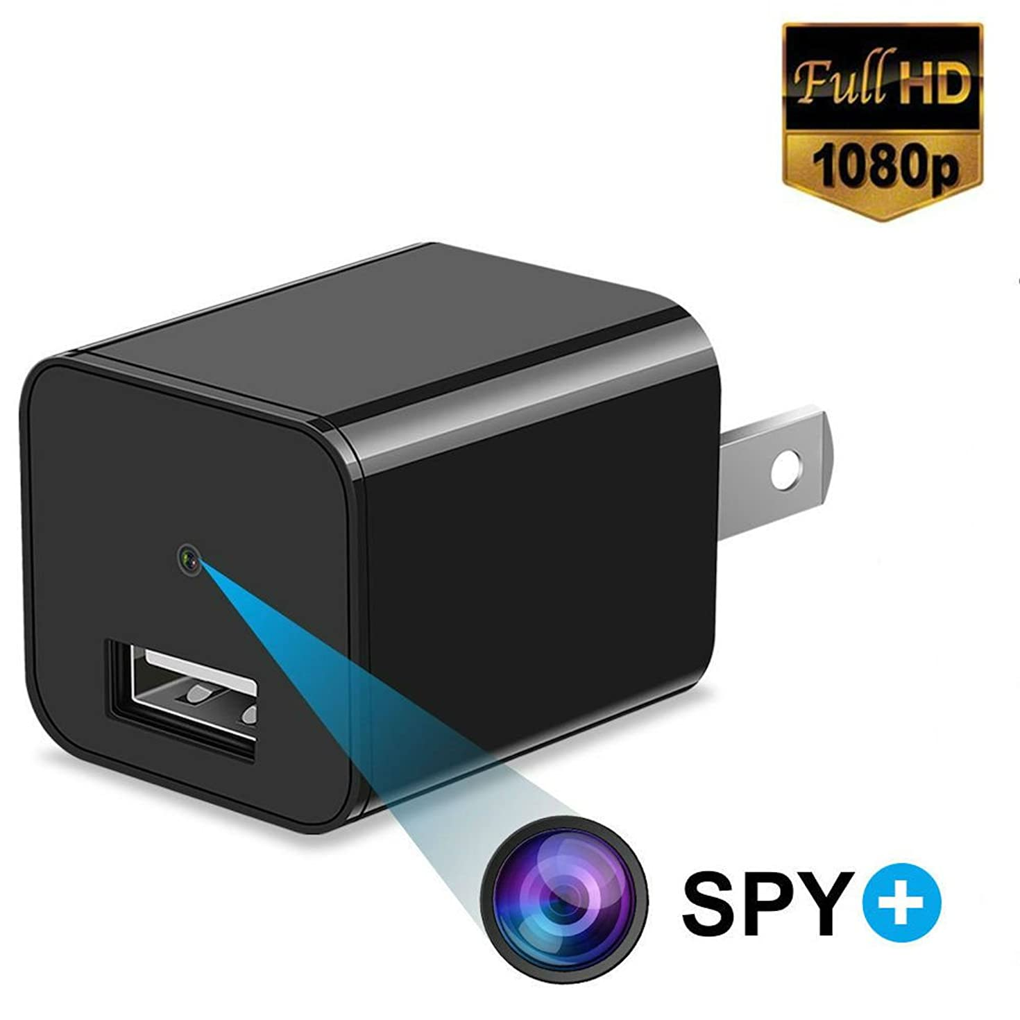 Best Hidden Camera - Spy Camera - 1080P HD Mini USB Wall Charger With Motion Detection For Indoor Home Security Surveillance Nanny Baby Pet Monitoring Cameras