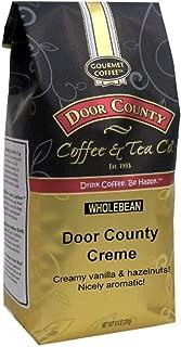 Door County Coffee, Door County Crème, Vanilla & Hazelnut Flavored Coffee, Medium Roast, Whole Bean Coffee, 10 oz Bag