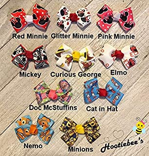 Characters Tiny Tot Infant Hair Bows 1acfd17a8dcd