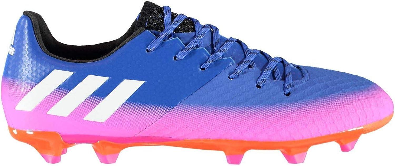 Adida Messi 16.2FG Sol Ferme Chaussures de Football pour Homme bleu WHT ou Chaussures de Soccer