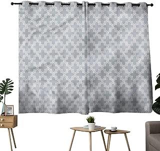 Williasm Decorative Darkening Curtains Grommet Curtain for Living Room Quatrefoil,Oriental Lattice Two Panels W63 x L72