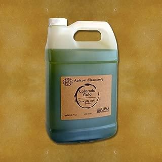 Concrete Stain Acid Stain for Coloring Concrete Colorado Gold (Golden Yellow) 1 Gallon