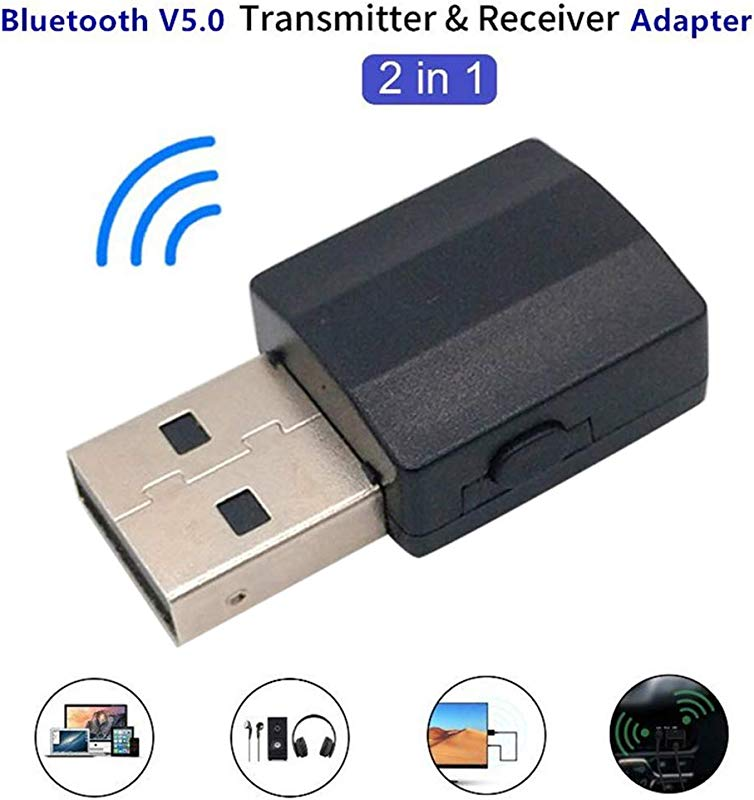 Yunbox299 USB Bluetooth 5 0 Adapter Dongle 2 In 1 Portable Bluetooth Transmitter Audio Music Receiver Adapter For PC Laptop Home TV Headphone Speaker