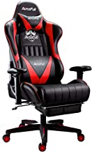 AutoFull Gaming Chair Racing Style Ergonomic High Back Computer Chair with Height Adjustment, Footrest,Headrest and Lumbar...