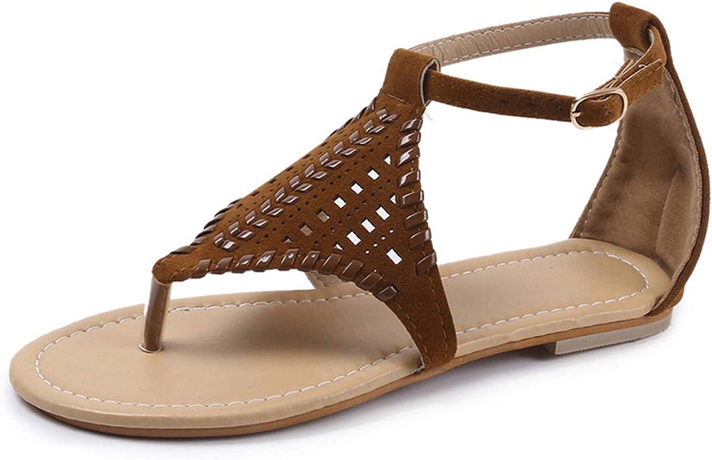Sensitives Gladiator Woman Sandals Plus Size Flat shoes for Female Cut Outs Flip Flops Summer Women Beach Sandal