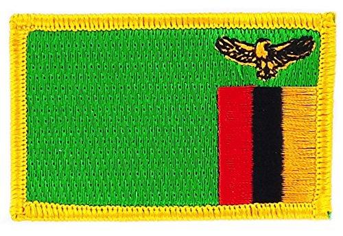 Patch Aufnäher bestickt Flagge Sambia Kwacha zum Aufbügeln Abzeichen Backpack