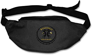 Cool Kokopelli Logo Runner's Fanny Bag Waist Pack Sling Pocket Super Lightweight For Men&Women Black
