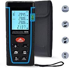 Laser Distance Measure, ieGeek 328ft Handheld M/In/Ft Laser Distance Meter Measuring..