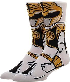 Adult Power Ranger White Ranger 360 Character Crew Sock