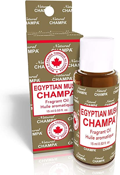 Natural Champa Fragrant Oil Concentrated Fragrance Oil Ideal For Environmental Scenting Bath Perfumery Oil Burners Diffusers Made With Natural Essential Oils 15 Ml Egyptian Musk