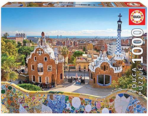 Educa- Vista de Barcelona Desde el PARC Güell Puzzle, 1000 Piezas, Multicolor (17966)