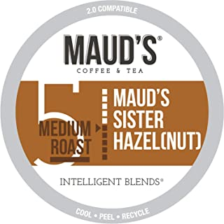 Maud's Hazelnut Flavored Coffee, 100ct. Recyclable Single Serve Coffee Pods – Richly Satisfying Arabica Beans California Roasted, K-Cup Compatible Including 2.0