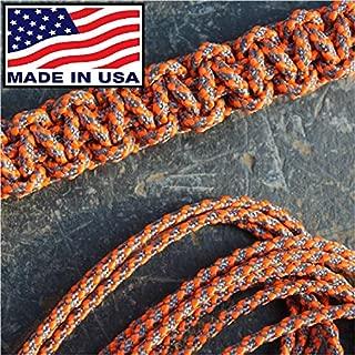 Orange Screw 3mm Paracord - Textured Posi-Lock | Reflective Orange | Made in The USA