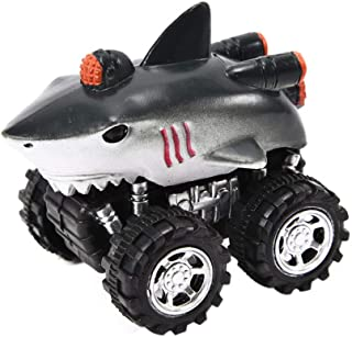 Wenini Pull Back Dinosaur Cars, Mini Vehicle Pull Back Animal Cars with Big Tire Wheel for 3-14 Year Old Boys Girls Creati...