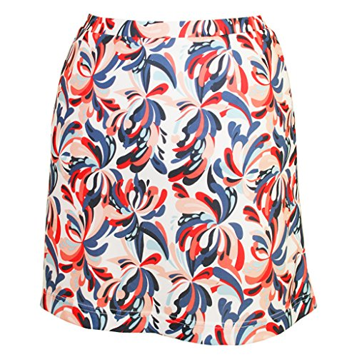 Monterey Club Ladies Dry Swing Water Fountain Print Pull-on Skort #2917 (White/Navy, 2X-Large)