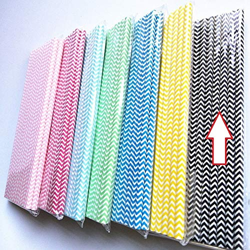 Water Bottle & Cup Accessories - Brand 25pcs Drink Paper Straws Wedding Birthday Party Wave Striped Cute Cup - Wolf Hair Cartoon Wrap Bottle Hair Lot Tube Deep Child Human With Plastic Black