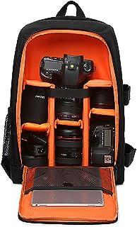LOTEC Multi-Functional Waterproof Camera Backpack Bag for DSLR/SLR Cameras,Lenses, Laptop/Tablet and Photography Accessories (Orange)