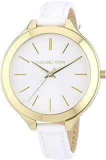 Michael Kors Runway Women's White Dial Leather Band Watch - MK2273