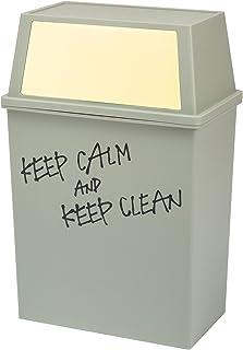 平和工業 積み重ねゴミ箱 ワイド 45L クリーム