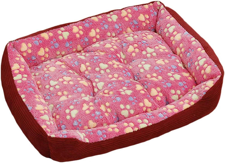 Pet nest Corduroy PP cotton Mattress Suitable for dogs Cats Small animals Pet nest (color   PINK, Size   70  55cm)