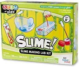 hand2mind SLIME! Slime Making Lab Kit For Kids Ages 8-12, 14 Science Experiments and Fact-Filled Guide, Make DIY Slimy Wor...