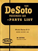 bishko automotive literature 1949 DeSoto S13 Series Part Numbers Book List Catalog Interchange Drawings