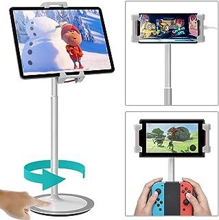 タブレットスタンド「良い評価・安定度抜群&使い勝手良し!」 KlearLook スマートフォン・IPAD・Nintendo Switchスタンド 卓上 揺れず頑丈な金属製台座 360度回転自由に調整可能 持ち運びやすい 4.7~12.9インチ対応 (タブレットスタンド)