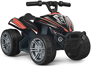 Costzon Kids Ride on ATV, 6V Battery Powered Electric Quad, 2 Speeds, Forward/ Reverse Switch, Ride On Rear Wheeler Motorized Mini Vehicle Toy Car for Toddlers Boys Girls (Black)