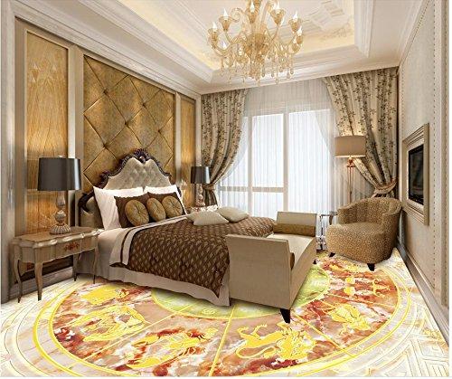 HD benutzerdefinierte 3D-Boden zwölf Sternbild Kompass Marmorboden PVC selbstklebende Bodenmalerei Tapete-350x245cm