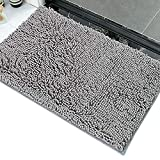 ALANSMA - Alfombra de baño de felpilla para alfombras de baño de microfibra suave y absorbente, lavable a máquina en seco – Alfombra de felpa perfecta para bañera, ducha y habitación