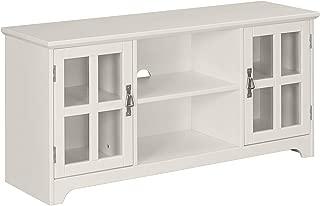 Ravenna Home Peterson Modern Glass Cabinet Storage TV Media Entertainment Stand, 46