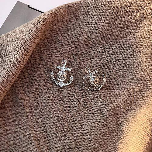 Di Linxing custom Japanse en Koreaanse eenvoudige sfeer street fashion anker oorbellen vrouwelijke wilde tij vrouwelijke oor sieraden