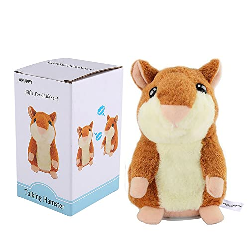 APUPPY Cute Mimicry Pet Talking Hamster Repeats What You Say Plush Animal Toy Electronic Mouse