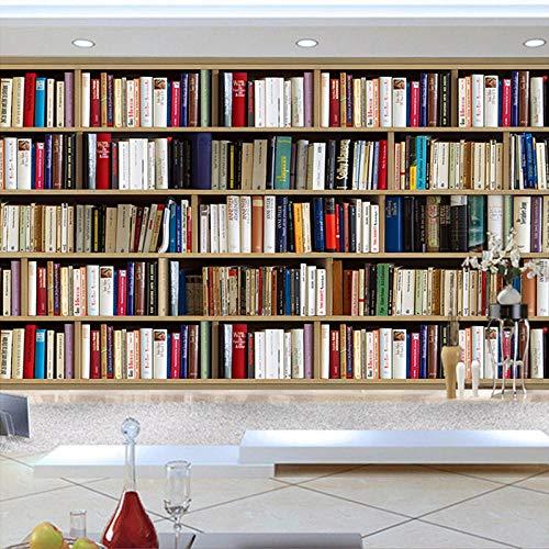 Fotobehang 3D boekenkast Creative Art 350x256 cm vliesbehang wanddecoratie design wandbehang wanddecoratie voor woonkamer slaapkamer TV achtergrond muur