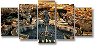 KLKLDD 5 Pcs/Set Modern Landscape Roman Forum Painting Printed On Canvas Classic Canvas Painting Wall Art Pictures for Gift,40x60 40x80 40x100cm