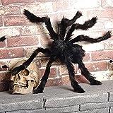 HuaYang Thrilling 75 cm peluche grande taille Spider Halloween décoration jouets créatifs accessoires -noir