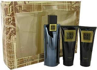 Bora Bora By Liz Claiborne Gift Set - 3.4 Oz Cologne Spray + 3.4 Oz Body Moisturizer + 3.4 Oz Hair & Body Wash Men