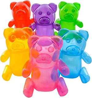 6 asstorted color GUMMY BEARS CANDY TOY INFLATABLES - 24 INCH GUMMIES