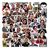 ZAYALI The Office Stickers - 50 Pcs - 2.5-4 inches - More Characters The Office TV Show Themed Stickers for Laptops, Water Bottles, Hydro Flasks, Notebook, Computers…