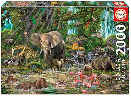 Puzzles Educa - Jungla africana, puzzle de 2000 piezas (16013)