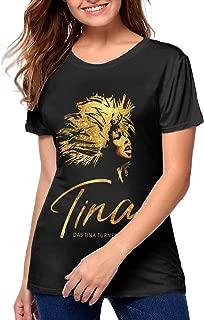 Womens T-Shirts Tina The Tina Turner Musical Slim Fit Graphic Tees Tops Blouse Short Sleeve T-Shirt