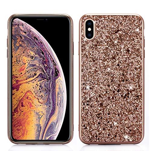 BANAZ Caja del Teléfono del Polvo del Brillo TPU For El iPhone XR St (Color : Rose Gold)