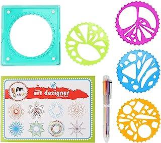 Spiral Designer Creative Dessin Outil Spirograph Géométrique Règle Pochoir Spirale avec Cahier de Dessin et Stylo à Bille ...
