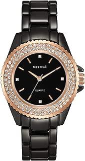 MESTIGE Womens Quartz Watch, Analog Display and Brass Strap MSWA3190