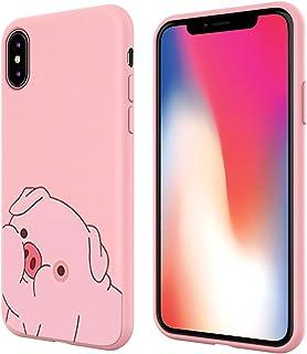 Pnakqil Xiaomi Redmi Note 6 Pro telefonfodral, rosa söt med mönster stötsäker mjuk flexibel gel TPU silikon ultraljud skyd...