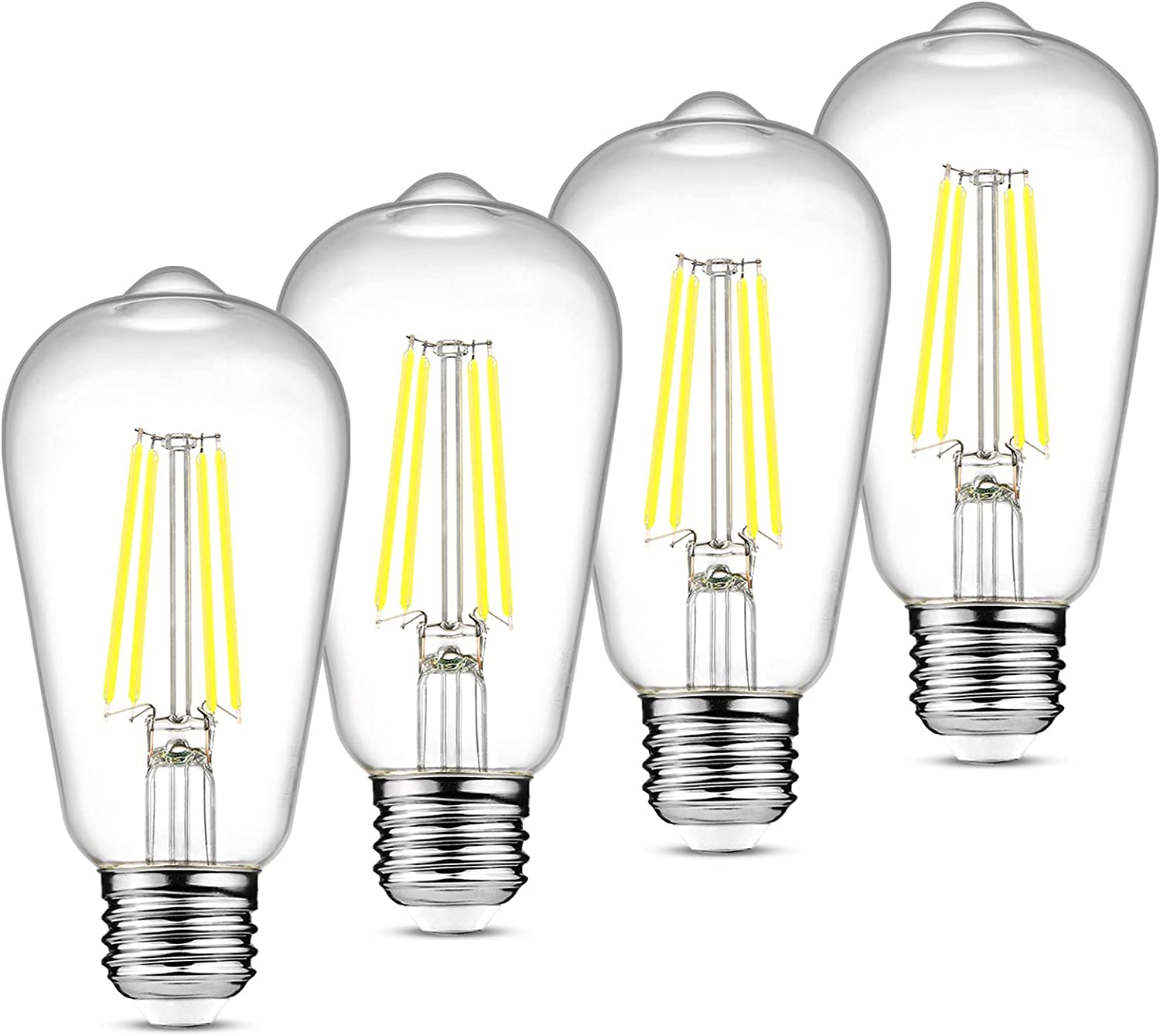 National uniform Easy-to-use free shipping Ascher Vintage LED Edison Bulbs Equivalent 60W 6W Non-Dimmabl