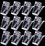 12pc Gel Nail Tips Forms Molds Clips Nail Extension Quick Building Clamp Manicure Fingernails DIY Tools