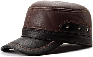 Kyson Unisex PU Leather Earflap Earmuffs Baseball Cap Black Brown Adjustable Golf Outdoor Hat (Brown 3)